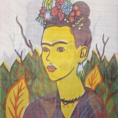 Frida Kahlo Market Bag  Mesh Woven Plastic Shopping Tote Sturdy Made in Mexico