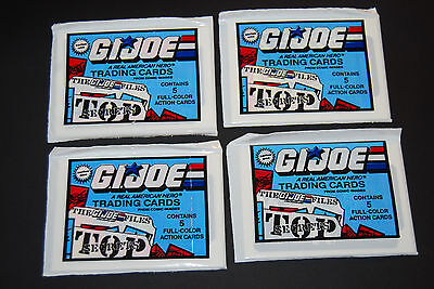 GI JOE Unopened Pack Lot (4) from box 1987 Comic Images