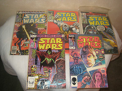 Lot Of 5 Star Wars  Marvel Comic Group Books