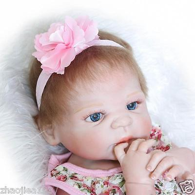 New Lifelike Reborn Baby Doll Silicone Christmas gift Reborn Baby Muñecas 23""