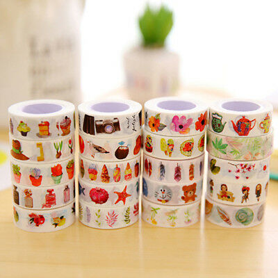 1.5Mx1CM DIY Self Adhesive Cartoon Washi Masking Tape Sticker Craft Decorative