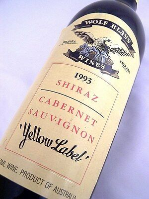 1993 WOLF BLASS Yellow Label Shiraz Cabernet Isle of Wine
