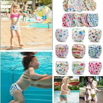 Swim Nappy Diaper Leakproof Reusable Adjustable Baby Infant Boy Girl Toddler J