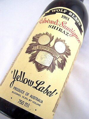 1981 WOLF BLASS Yellow Label Shiraz Cabernet Isle of Wine