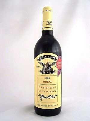 1990 WOLF BLASS Yellow Label Shiraz Cabernet Isle of Wine