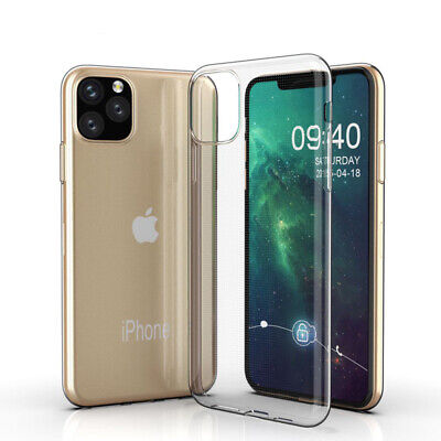 For iPhone 11 Pro MAX 7 8 Ultra-thin Slim Silicone Soft Clear TPU Case Cover Lw