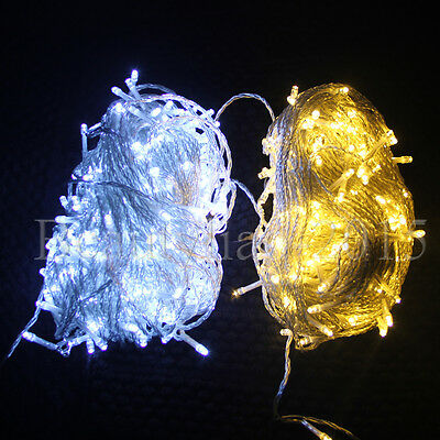 500 LED 100M Fairy String Lights Wedding Indoor Outdoor Christmas Garden Party