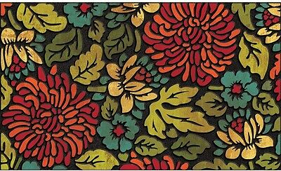 """18"""" X 30"""" Contemporary Bloom Recycled Rubber Welcome Door Mat Entrance Home"""