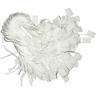 """Hang Tag Fasteners White Nylon Strings 7"""" long - 1000 pieces"""