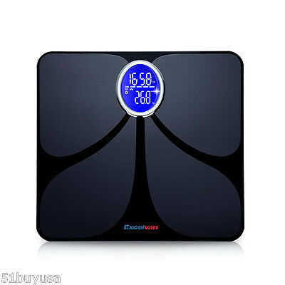 Bluetooth Digital Body Fat Scale Bathroom Gym Weight LCD Electronic Water Glass