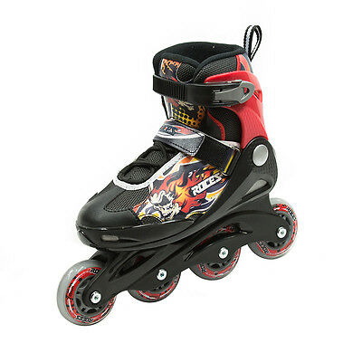Roces Compy 5.0 Boy Inline Skates - Black/Red - 12JR to 1