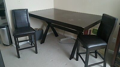 pub height dining set with server