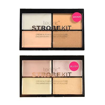 Technic Highlighter Make Up Silver Light Cream Bronze Powder Contour Palette