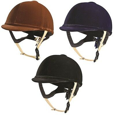 Caldene Tuta PAS015 Horse Riding Hat with Leather Harness 56-61cm ALL COLOURS