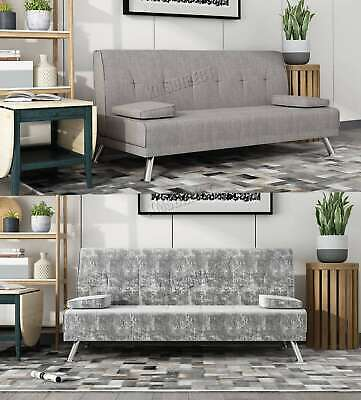 FoxHunter Fabric Chunky Sofa Bed Recliner 3 Seater Modern Luxury Design Home New
