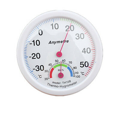 White In-out Doors Centigrade Thermometer Hygrometer HCXM