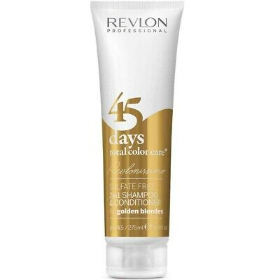 Revlonissimo 45 Days Golden Blondes 2in1 Shampoo & Conditioner 275ml Goldblond