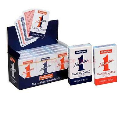 New Decks of Waddington No1 Classic Playing Cards Red Blue Multi Buy Number1