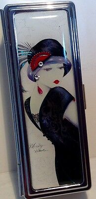 Maranda-Ti Art Deco Make Up Lipstick Case - Vintage Sophia Design - Gift Box