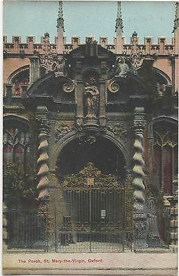 POSTCARD  OXFORD St Mary the Virgin  The Porch