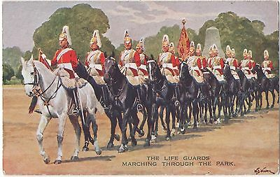 POSTCARD  MILITARY  The Life Guards