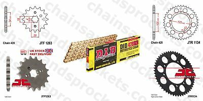 DID- All Gold Heavy Duty Chain Kit 428HDGG 126 fits Rieju 125 SMX 05-08