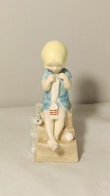 "Royal Worcester 4 1/4"" Tall Katie Figurine Modelled by Freda Doughty"