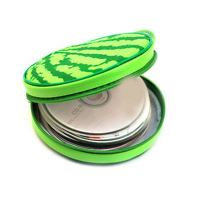 CD Holder Sheet DVD Case Storage Wallet Disc Organizer Watermelon Shape 24  HCXM