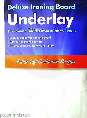 Deluxe Ironing Board Underlay Replacement Foam Pad 40 x 124cm Cut to Fit Cover