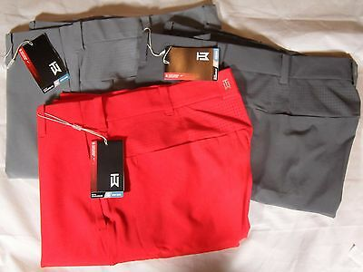 New Mens Nike Golf Tiger Woods TW Adaptive Fit StayCool Pants Red Blue 585784