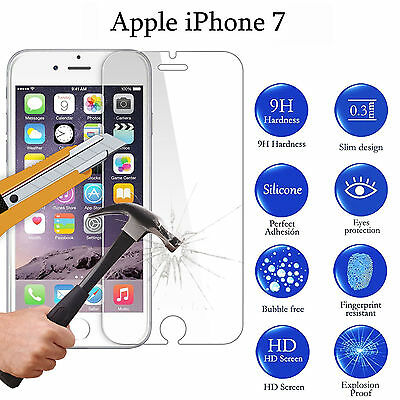 """For Iphone 7 4.7"""" Premium Temper Glass Screen Protector 0.3mm Shatterproof Clear"""