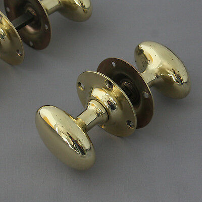 Early 1900's Brass Oval Door Knobs