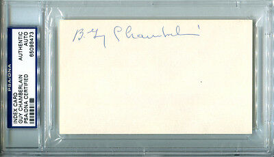 Berlin Guy Chamberlin Signed Index Card 3x5 Auto HOF Canton Nebraska PSA/DNA
