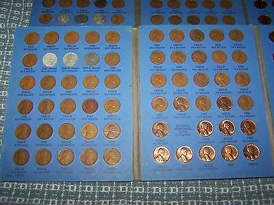 COMPLETE WHITMAN BOOK of LINCOLN WHEAT CENTS 1941-1958 with 1959-1974 MEMORIALS