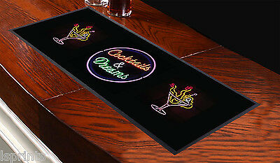 COCKTAILS & DREAMS DESIGN Bar Towel Runner Pub Mat Beer Cocktail Party Gift