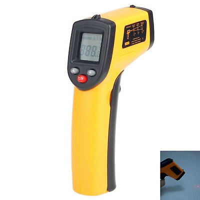 Digital LCD Non-Contact Infra Thermometer Heat Meter Laser IR Point -50 to 380℃