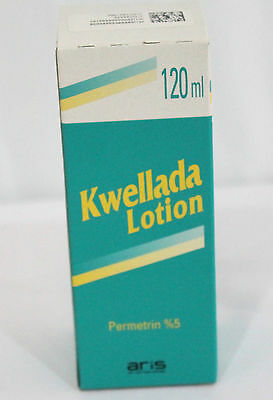 Kwellada %5 Permethrin Lotion 120ml/4oz Treatment of Scabies and Pubic Lice Buy