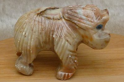 Miniature Stone Carving of a Wild Blue Eyed GORILLA from Peru