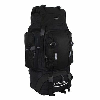 80L Camping Hiking Travel Mountaineering Rucksack Backpack Luggage Bag Black