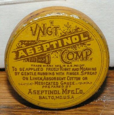 Ungt Aseptinol Ointment tin Doctor Pharmacy Drugstore Baltimore Maryland