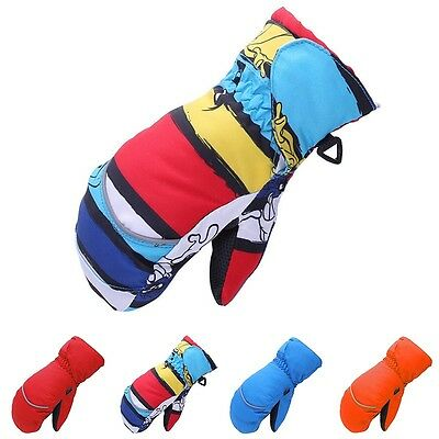 Children Kid's Winter Ski Gloves Boys Girls Waterproof Thicken Warm Sport Gloves