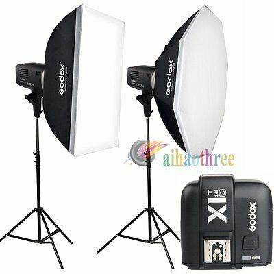 Godox AD600BM 2x600W HSS 1/8000s Bowens Mount Flash Light Trigger Kit For Canon