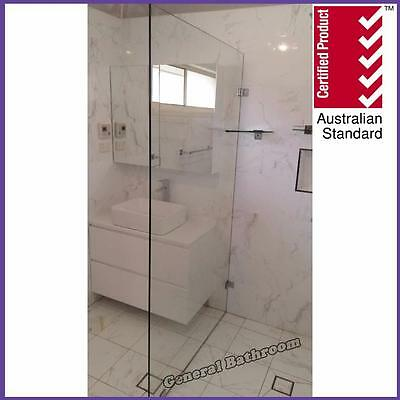 Frameless Safety Glass Shower Screen Single Panel  950*2000mm-free quotation*