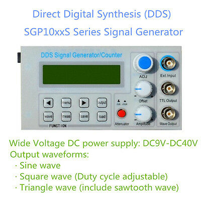 FeelTech 2-10Mhz DDS Function Signal Generator Many Waveforms Frequency Counter