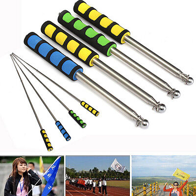 Flag Pole 1.2M Portable Telescopic Flag Handheld Pole Tool for Flags Windsock TB