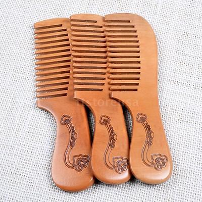 1pc Beauty Wooden Comb Anti-static Comb Peach Wood Hair Brush Massage Hair Care