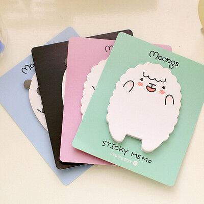 2x  New Sheep / Panda Sticky Notes Sticker Bookmarker Memo Pad Home Office Class