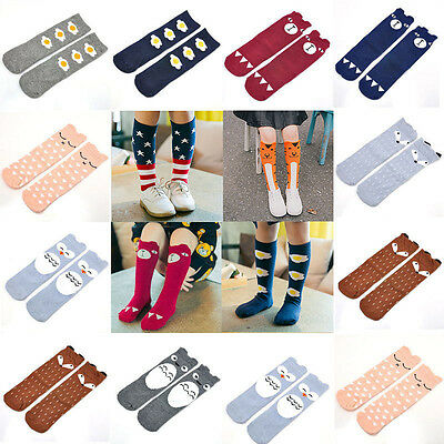 Baby Kids Girls Toddlers Knee High Socks Tights Leg Warmer Stockings For Age 0-6