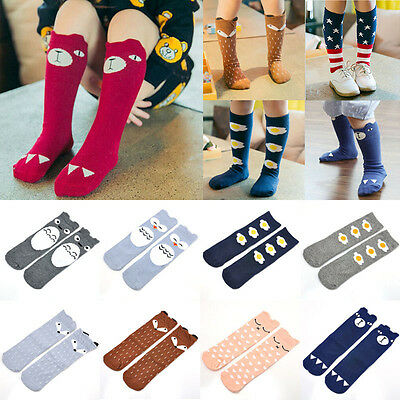 Kids Toddlers Girls Cute Knee High Socks Tights Leg Warmer Stockings For Age 0-6