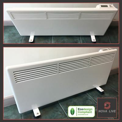"2000W ""NOVA LIVE S"" White Electric Panel Heater + Feet  - 940mm(w) x 400mm(h)"